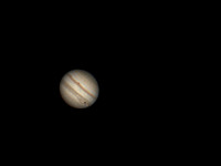 Jupiter with Io transiting over the Great Red Spot